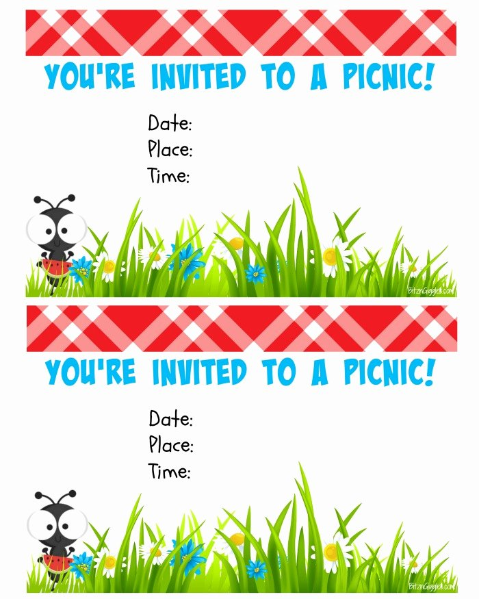 Free Downloadable Picnic Invitation Template Fresh Free Printable Picnic Invite Bitz & Giggles