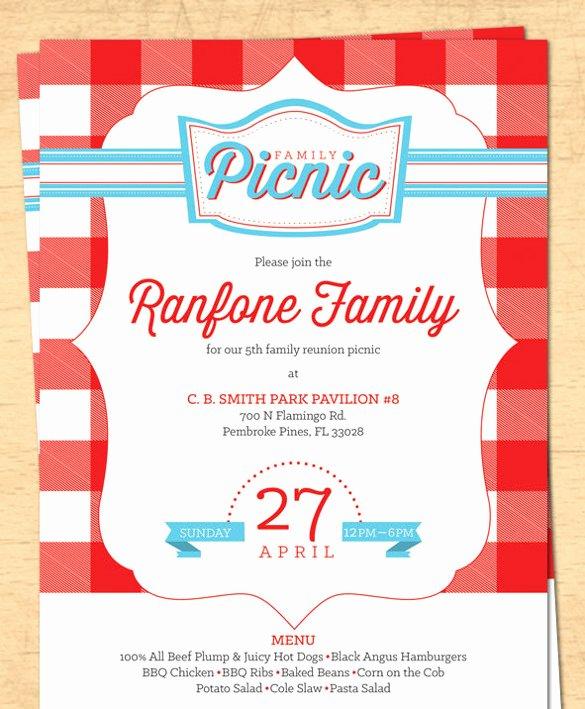 Free Downloadable Picnic Invitation Template Luxury 26 Picnic Invitation Templates Psd Word Ai