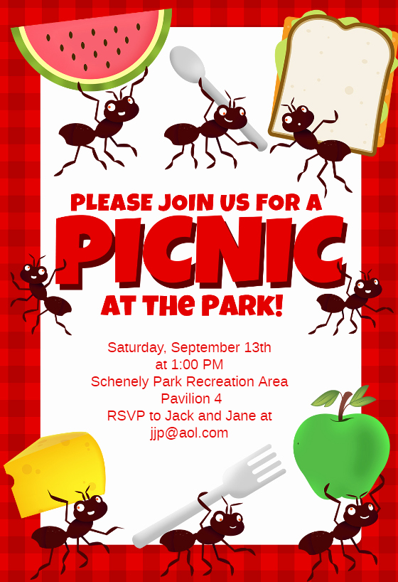 Free Downloadable Picnic Invitation Template Luxury Picnic Party Dinner Party Invitation Template Free