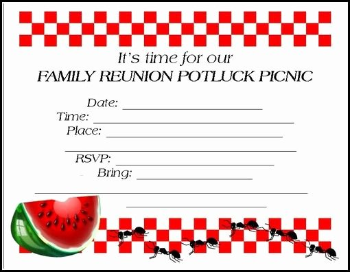 Free Downloadable Picnic Invitation Template New 24 Best Images About Potluck Invitations On Pinterest