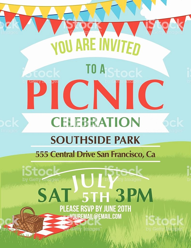 Free Downloadable Picnic Invitation Template New Cartoon Summer Picnic Invitation Template Stock Vector Art & More Of 2015 istock