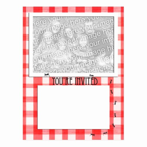 Free Downloadable Picnic Invitation Template Unique Picnic theme Invitation Template Postcard