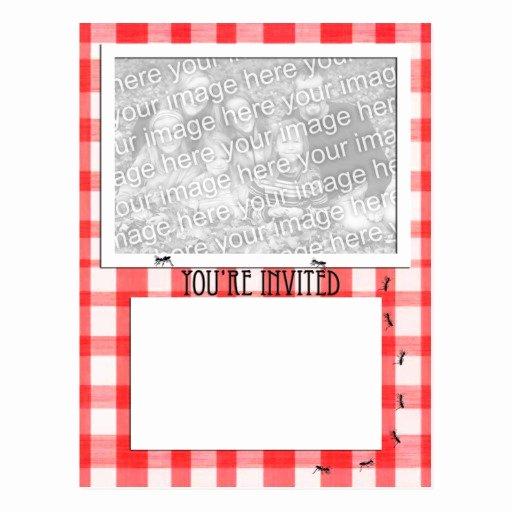 Free Downloadable Picnic Invitation Template Unique Picnic theme Invitation Template Postcard