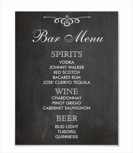 Free Drinks Menu Templates Beautiful 24 Bar Menu Templates – Free Sample Example format Download