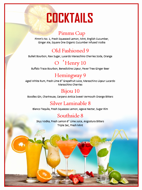 Free Drinks Menu Templates Inspirational Pin by Betsy Mynatt On Home Bar