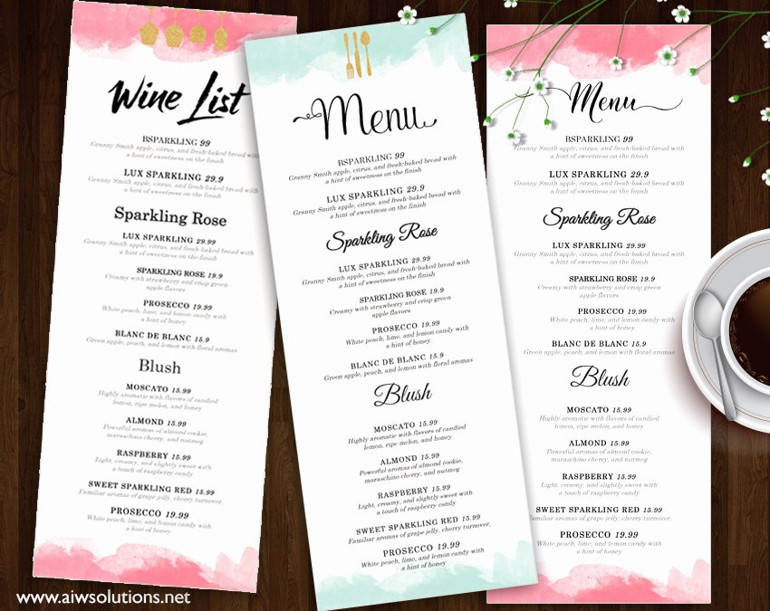 Free Drinks Menu Templates Luxury Design & Templates Menu Templates Wedding Menu Food Menu Bar Menu Template Bar Menu