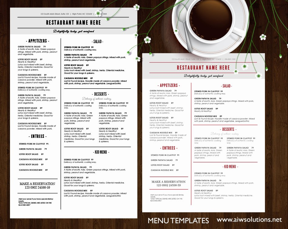 Free Drinks Menu Templates Unique Design & Templates Menu Templates Wedding Menu Food Menu Bar Menu Template Bar Menu