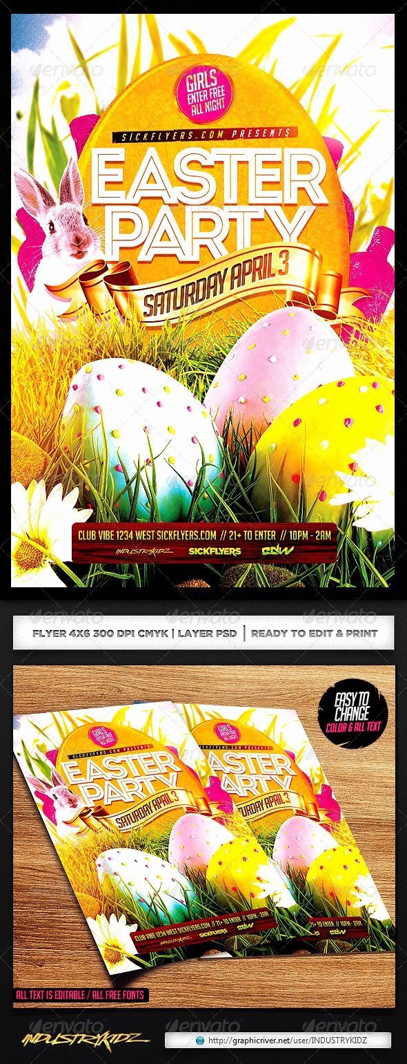 Free Easter Flyer Templates Awesome Easter Flyer Template Flyer Design Templates