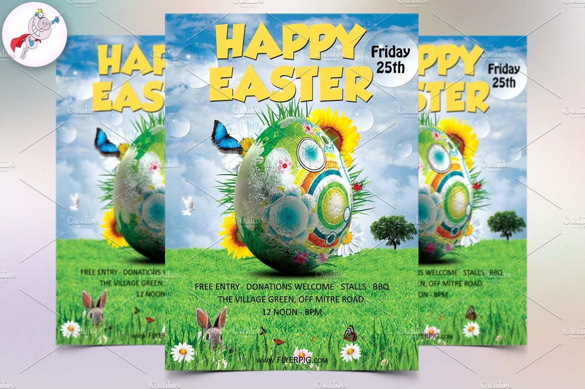 Free Easter Flyer Templates Fresh Easter Flyer Template Flyer Templates Creative Market