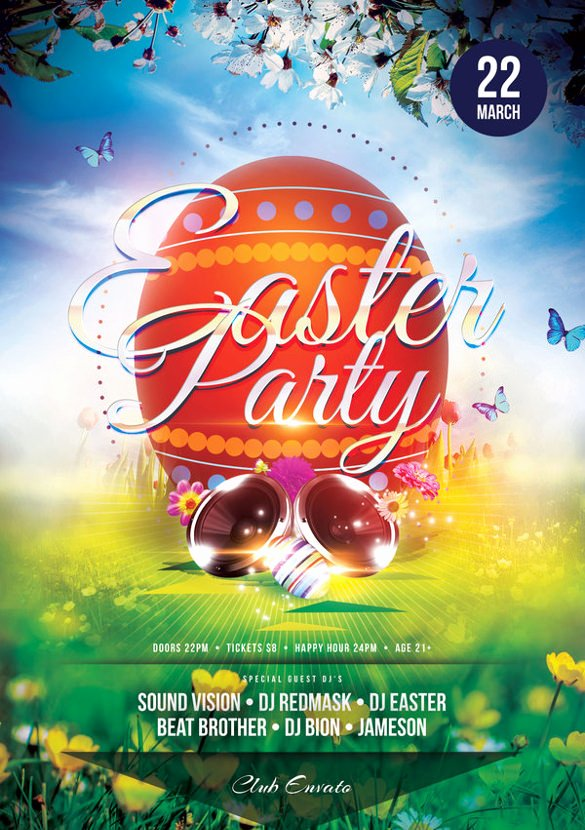 Free Easter Flyer Templates Lovely 31 Easter Flyers Free Psd Ai Vector Eps format Download