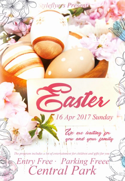 Free Easter Flyer Templates New Easter Free Flyer Template Download for Shop