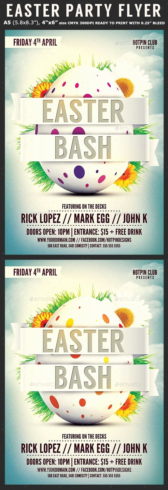 Free Easter Flyer Templates Unique Easter Bash Flyer Template