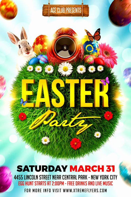 Free Easter Flyer Templates Unique Xtremeflyers Easter Flyer Templates