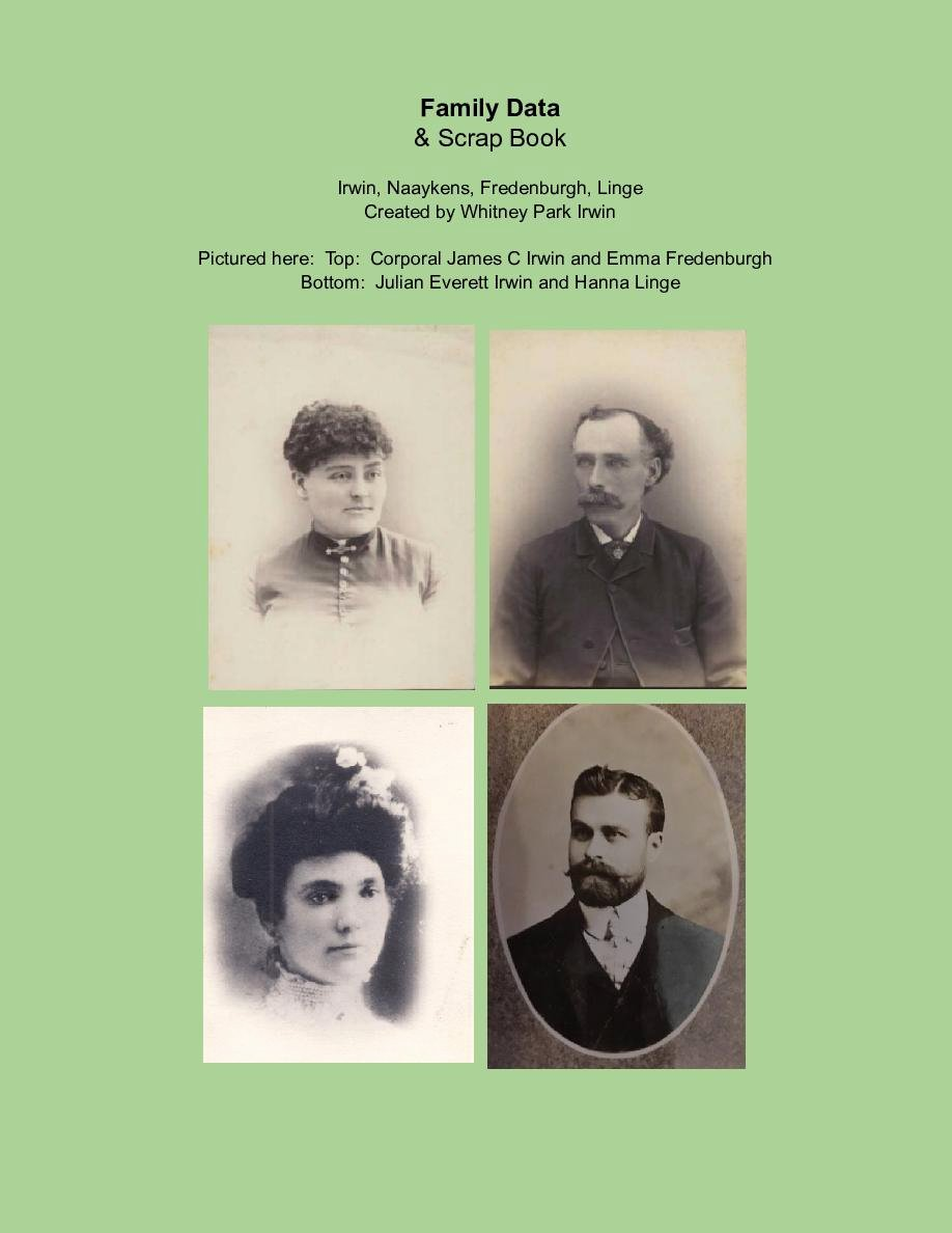 Free Family History Book Template Lovely Family Data Of the Irwin Family