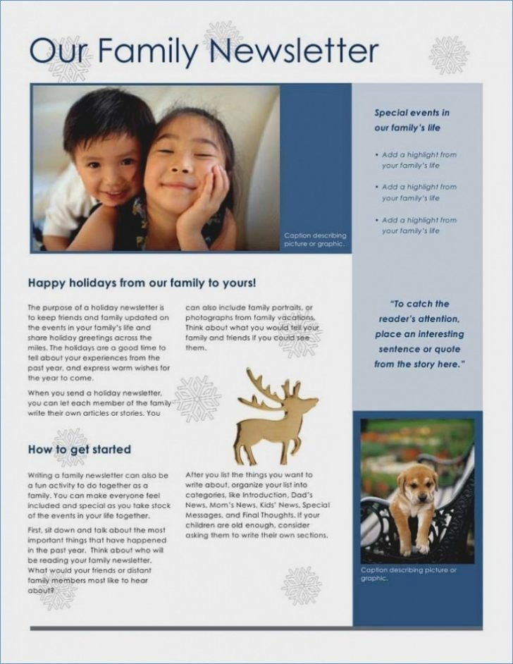 Free Family Newsletter Template Awesome 19 Family Christmas Newsletter Templates