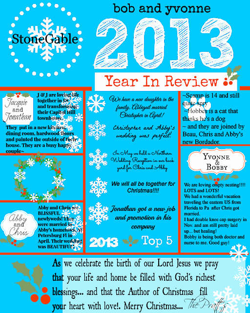 Free Family Newsletter Template Awesome 2013 Year In Review today S Craft and Diy Ideas