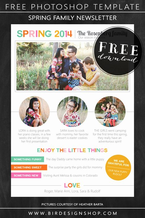 Free Family Newsletter Template Awesome Learn Graphy