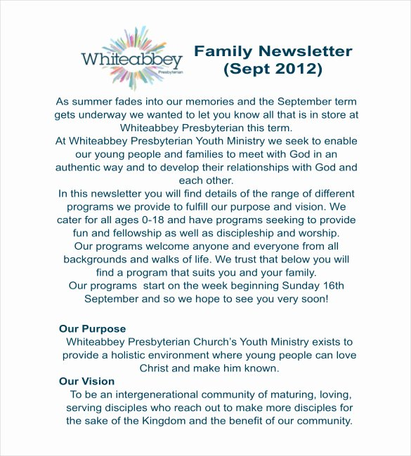 Free Family Newsletter Template Lovely 12 Family Newsletter Template Free Psd Pdf Documents Download