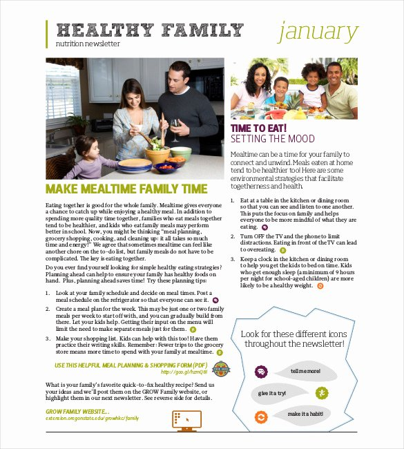 Free Family Newsletter Template Luxury 10 Family Newsletter Templates Free Sample Example format Download