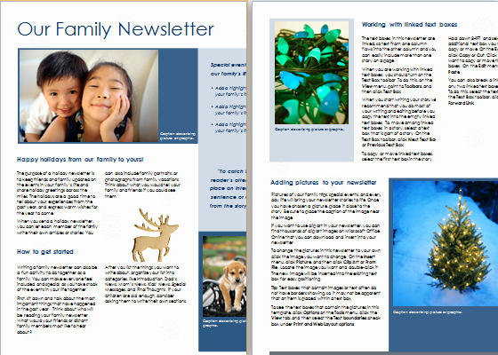 Free Family Newsletter Template New 15 Editable Newsletter Templates for Ms Word
