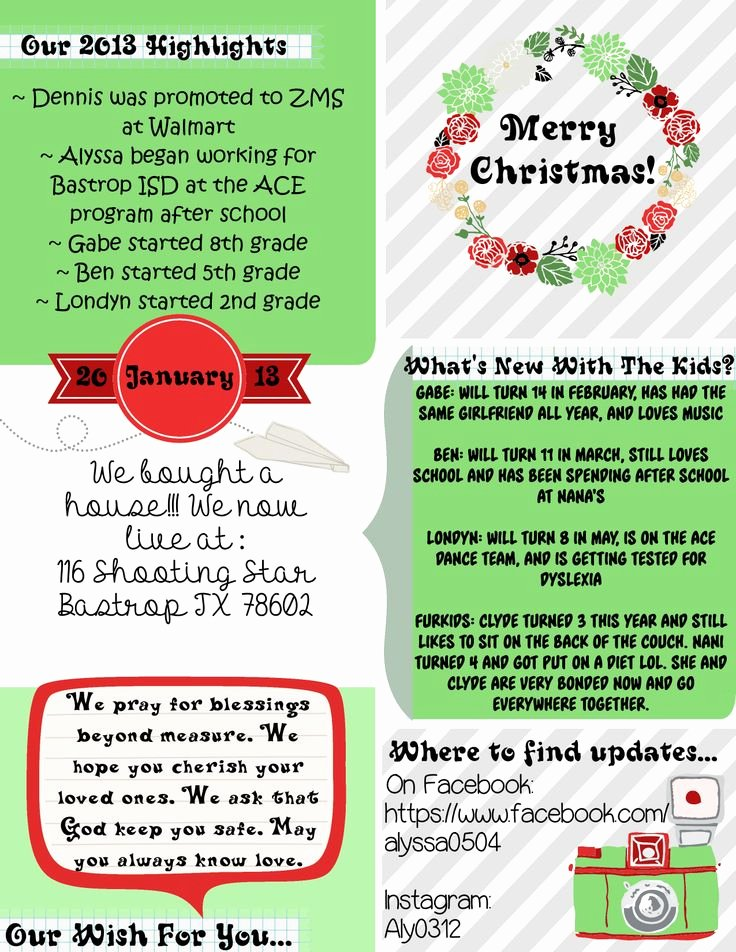 Free Family Newsletter Template New 34 Best Family Images On Pinterest