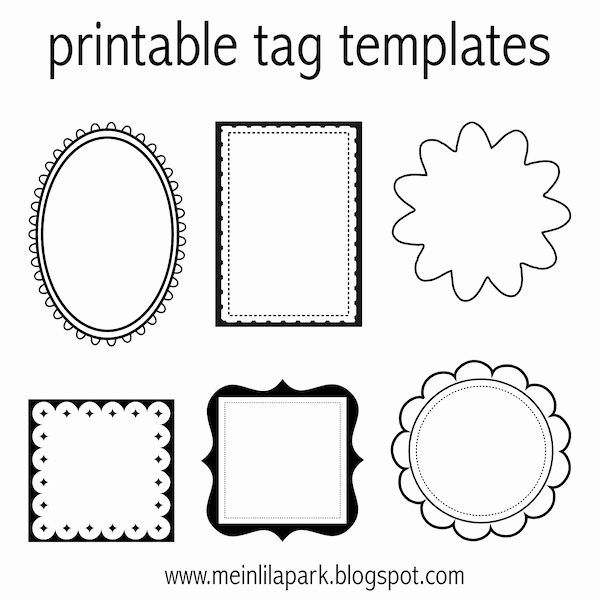 Free Favor Tag Template Awesome Free Printable Tag Templates for Diy Tags Ausdruckbare Etiketten Freebie
