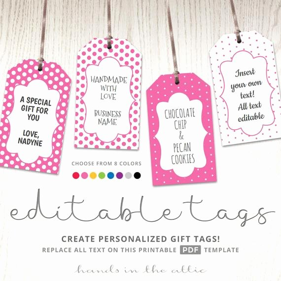 Free Favor Tag Template Beautiful Editable T Tags T Tag Template Text Editable Polka