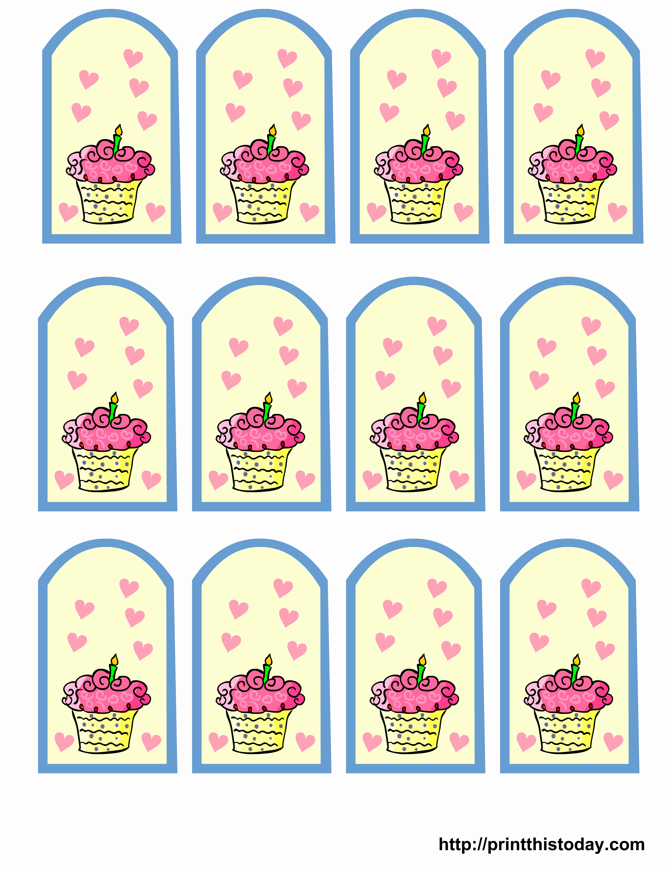 Free Favor Tag Template Fresh Free Printable Birthday Favor Tags