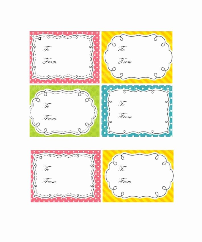Free Favor Tag Template Lovely 44 Free Printable Gift Tag Templates Template Lab