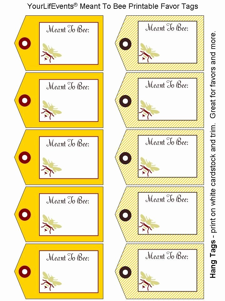 Free Favor Tag Template Lovely Printable Tags Printables Free Meant to Bee Wedding Favor Tags Printables Pinterest