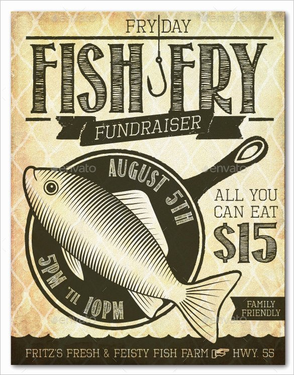 Free Fish Fry Flyer Template Beautiful 48 Fundraiser Flyer Templates Psd Eps Ai Word
