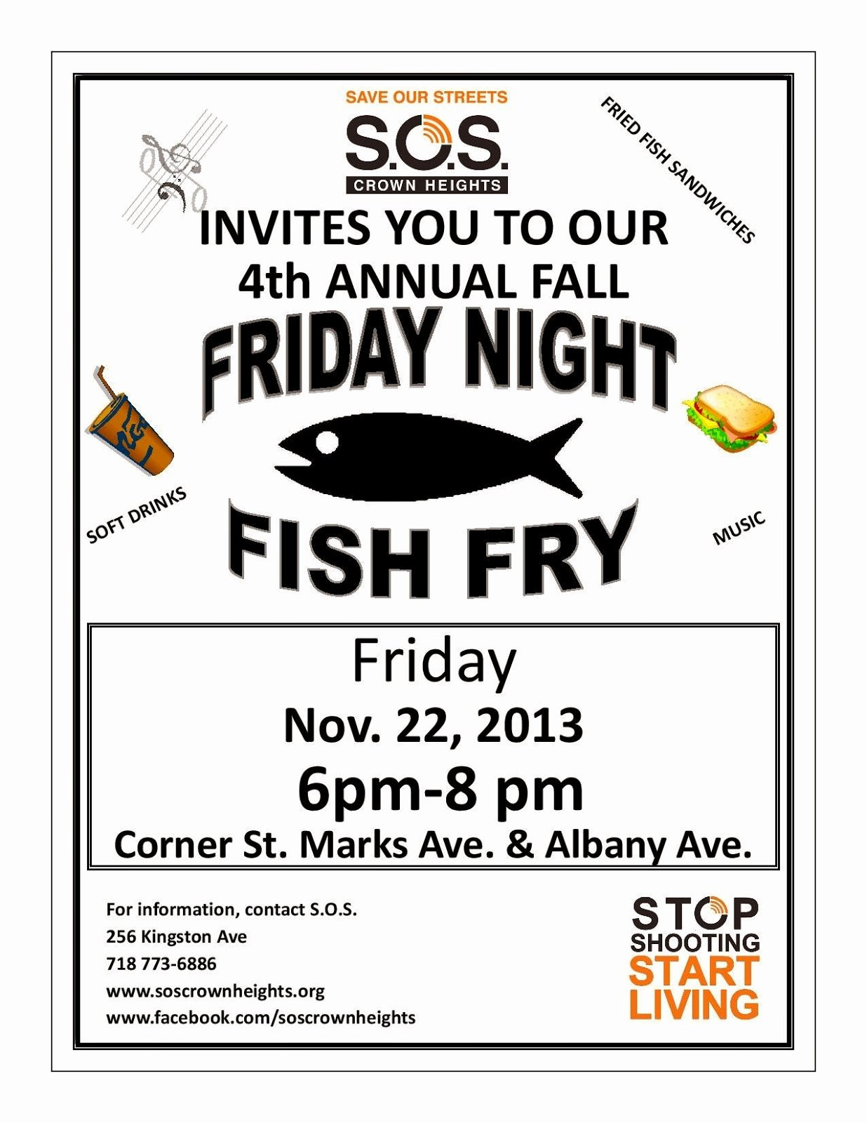Free Fish Fry Flyer Template Beautiful S O S Crown Heights and S O S Bed Stuy Join Us for the Fall Fish Fry