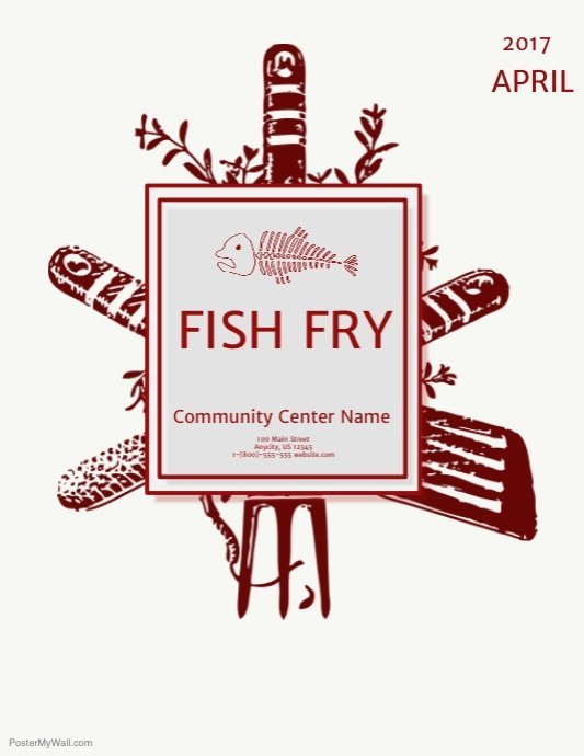 Free Fish Fry Flyer Template Elegant Fish Fry Template