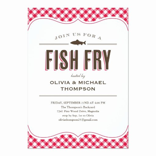 Free Fish Fry Flyer Template Lovely Fish Fry Party Invitations
