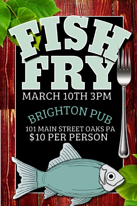 Free Fish Fry Flyer Template Lovely Fish Fry Template
