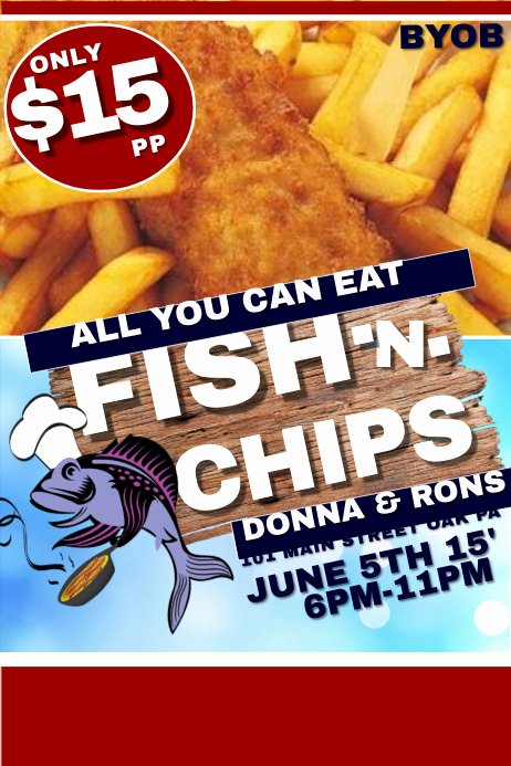 Free Fish Fry Flyer Template New Fish and Chips Template