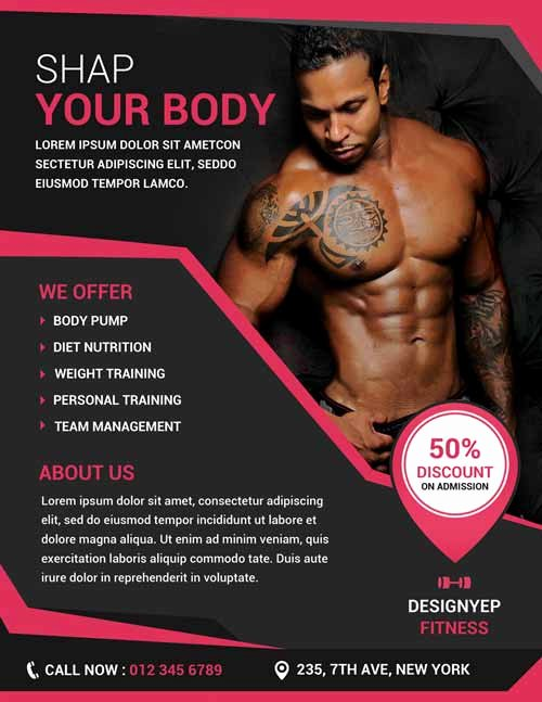 Free Fitness Flyer Template Awesome Download Free Fitness and Gym Flyer Psd Template