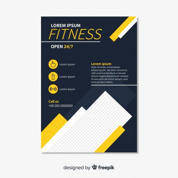 Free Fitness Flyer Template Awesome Fitness Flyer Template Vector