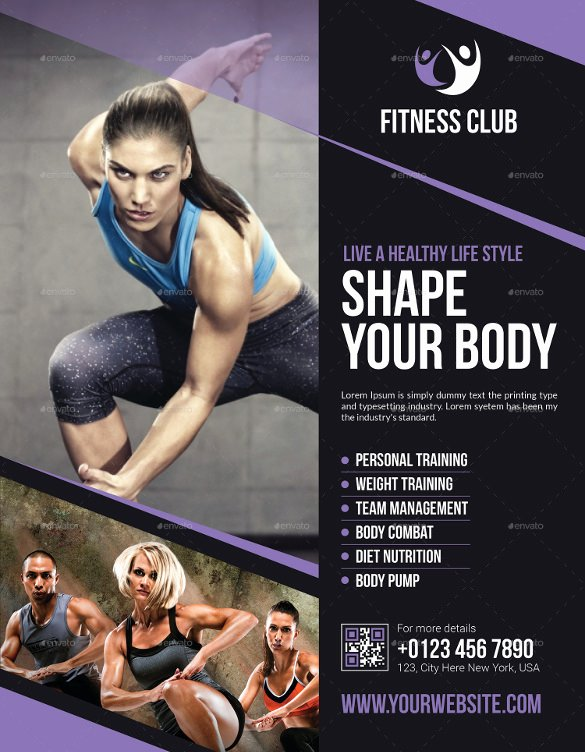 Free Fitness Flyer Template Beautiful 18 Fitness Flyers Psd Vector Eps Word Ai formats