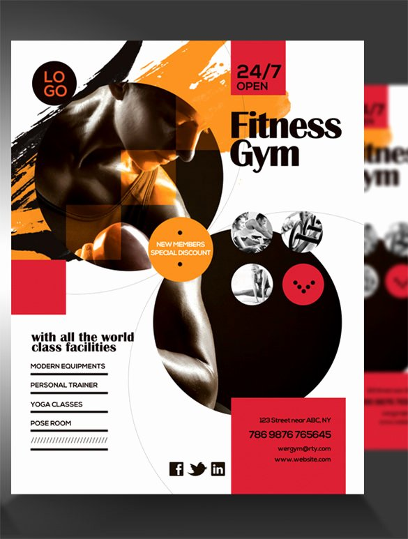Free Fitness Flyer Template Beautiful 36 Fitness Flyer Templates Word Psd Ai formats