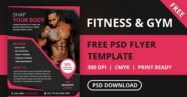 Free Fitness Flyer Template Best Of Free Fitness and Gym Flyer Psd Template Designyep