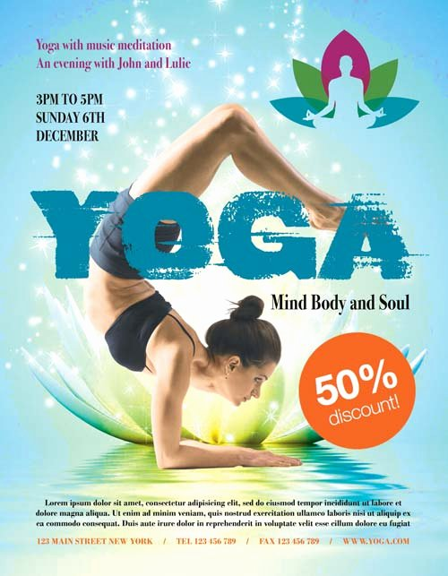 Free Fitness Flyer Template Best Of Yoga Fitness Free Psd Flyer Template Download Free Psd Flyer