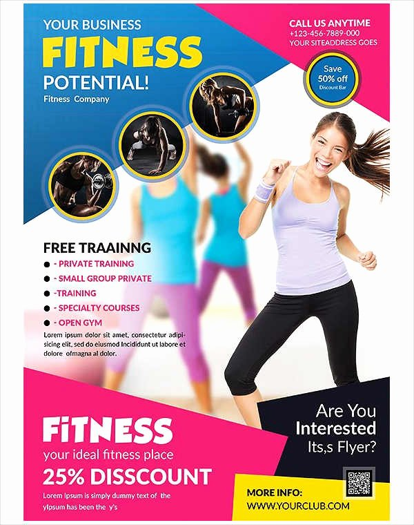 Free Fitness Flyer Template Elegant 58 Fitness Flyer Templates Psd Word Ai Eps Vector formats