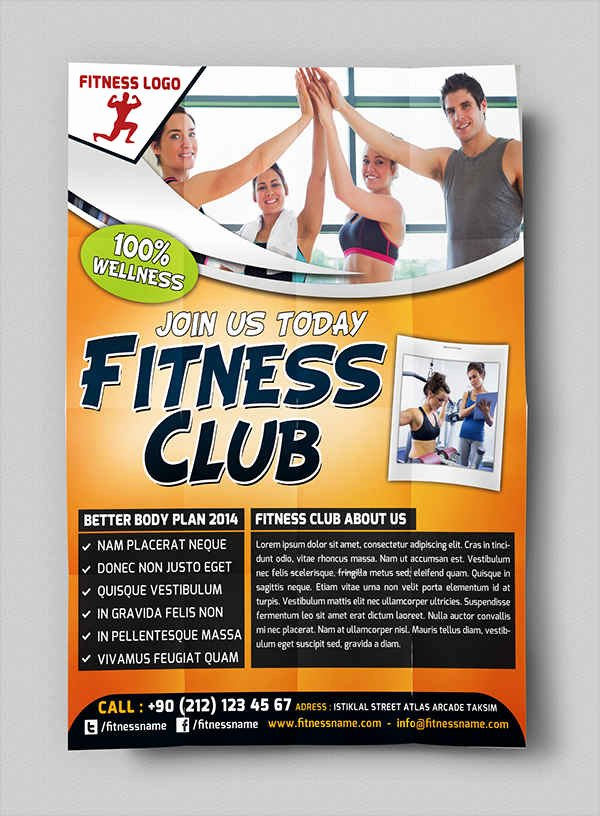 Free Fitness Flyer Template Elegant 63 Fitness Flyer Examples Psd Ai Eps Word formats