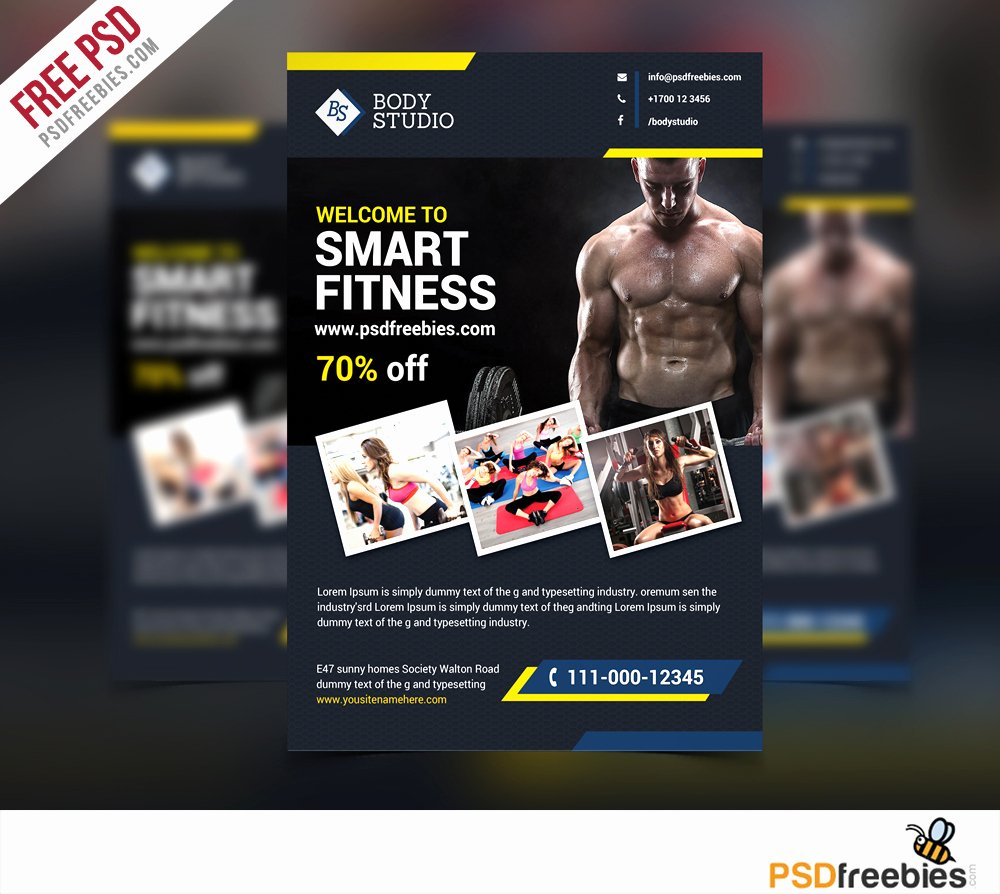 Free Fitness Flyer Template Elegant Download Free Fitness or Gym Flyer Template Free Psd at Downloadpsd