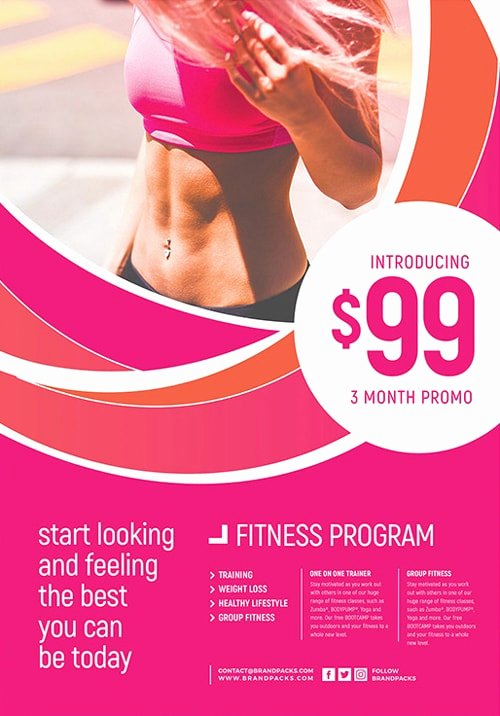Free Fitness Flyer Template Elegant Female Fitness Free Flyer Template Free Gym Flyers