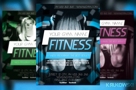 Free Fitness Flyer Template Elegant Fitness Flyer Template Flyer Templates On Creative Market