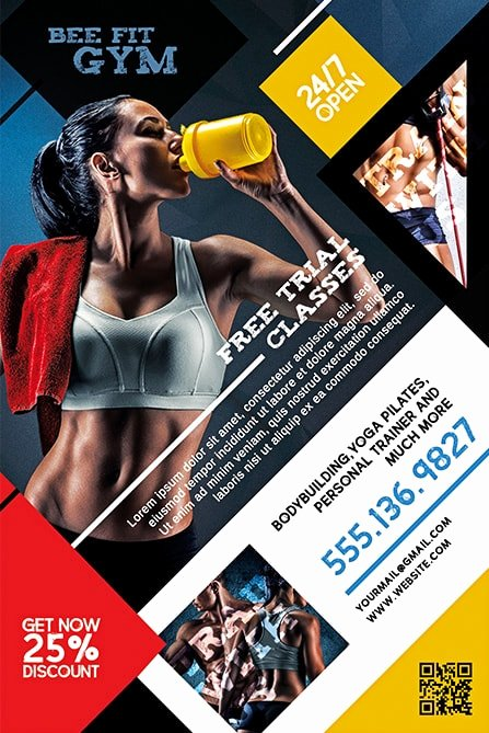 Free Fitness Flyer Template Elegant Gym Fitness Free Flyer Template Download Psd Flyer