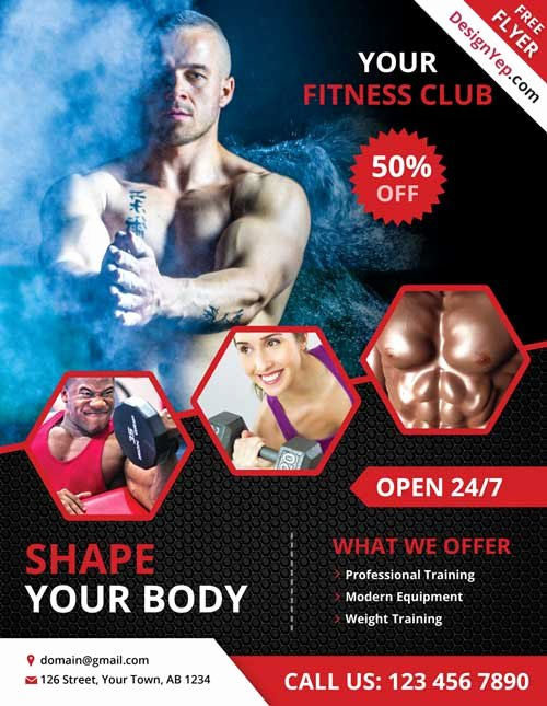Free Fitness Flyer Template Inspirational Download Free Fitness and Gym Psd Flyer Template