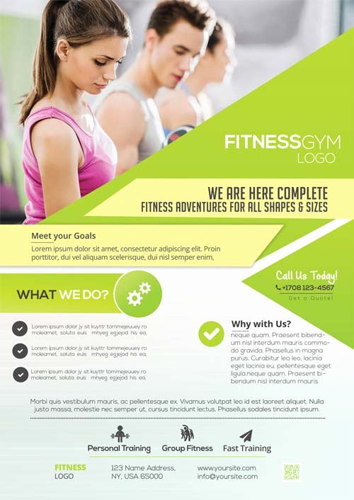 free fitness gym flyer
